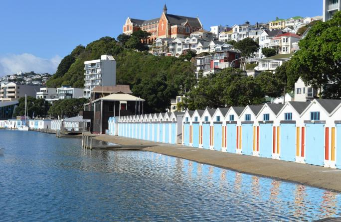 The Boat sheds around Oriental Parade